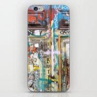 door iPhone & iPod Skins featuring DOOR by  ECOLARTE