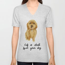 Golden retriever puppy Unisex V-Neck