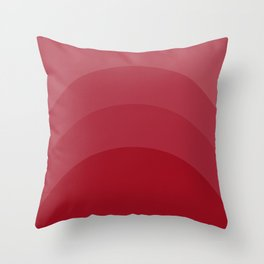 Four Shades of Red Curved Throw Pillow