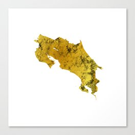 Costa Rica   Pura Vida   Gold Canvas Print
