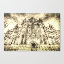 York Minster Cathedral Vintage Canvas Print