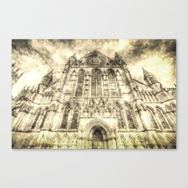 York Minster Cathedral Vintage Canvas Print