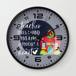 A teacher takes a hand Wall Clock