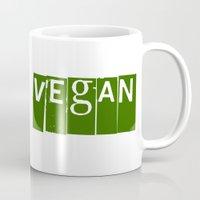 vegan Mugs featuring Vegan #2 by Jeremy Jon Myers