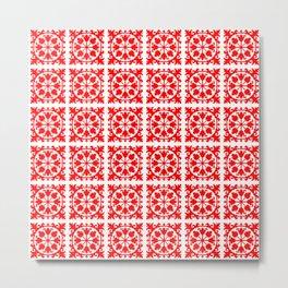 Red & white flowers no.dd170999r2 Metal Print