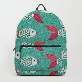 Adorable Koi Pattern Backpack
