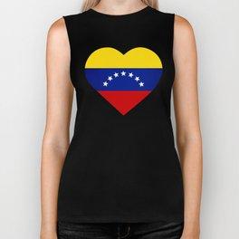 Venezuelan heart - Corazon Venezolano Biker Tank
