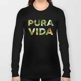 Pura Vida Costa Rica Palm Trees Long Sleeve T-shirt