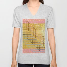 Fun with shapes and patterns Unisex V-Neck