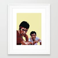 scarface Framed Art Prints featuring Scarface by Taylor Gonzales
