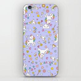 Unicorn Lilac Pattern iPhone Skin