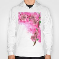 cherry blossom Hoodies featuring Cherry Blossom by Laura Thompson Art