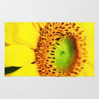 sunflower Area & Throw Rugs featuring Sunflower by Falko Follert Art-FF77
