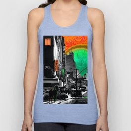 SynchroniCity - Meaningful Psychedelic Collage of NYC Unisex Tank Top