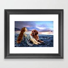 Woman's Best Friend Framed Art Print