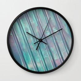 Stripes - Aqua Wall Clock