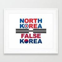 korea Framed Art Prints featuring North Korea by pollylitical