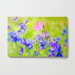 Delphinium Meadow Metal Print