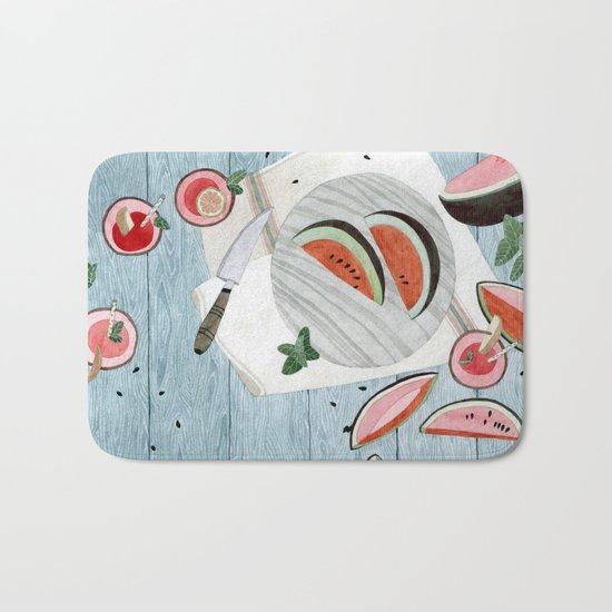 The Watermelon Season Bath Mat