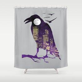 Night Heist Shower Curtain