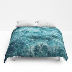 Blue Ocean Waves Comforters