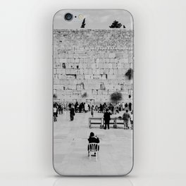 Holy-place, religious jewish men talking | The Western Wall in the Old City, Jerusalem, Israel | Fine art print photography Art Print iPhone Skin