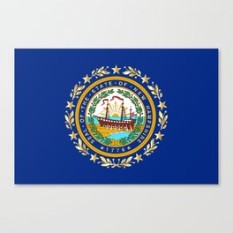 New Hampshire State Flag Canvas Print