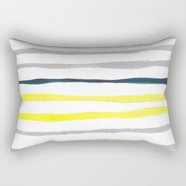 Watercolor Stripe Rectangular Pillow