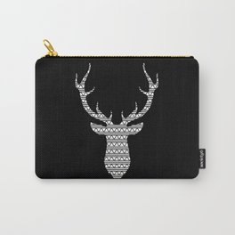Patterned Stag's Head - Inverted Carry-All Pouch