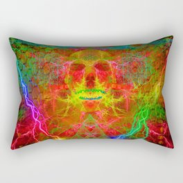 Electric Skull Rectangular Pillow