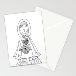 Little Red Riding Hood Visits Grandma Stationery Cards