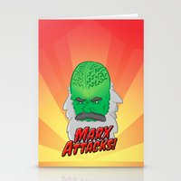 marx Stationery Cards featuring Marx Attacks! by ericbennettart