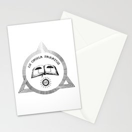 In omnia paratus Stationery Cards
