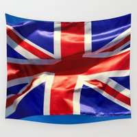 england Wall Tapestries featuring England Flag by Fine2art