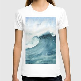 Wave Watercolor Study T-shirt