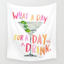 What a Day for a Day Drink – Melon Typography Wall Tapestry