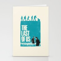 the last of us Stationery Cards featuring The Last Of Us by Bill Pyle