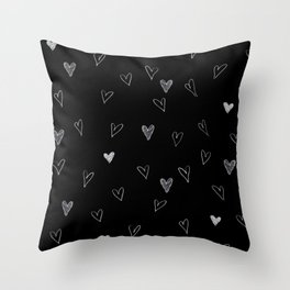 Ink hearts pattern 2 Throw Pillow