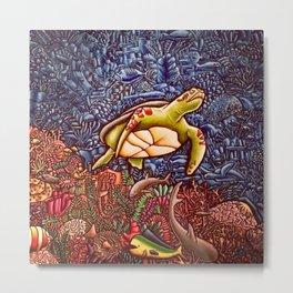 Turtle Power Metal Print