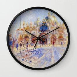 "Auguste Renoir ""The Piazza San Marco, Venice"" Wall Clock"