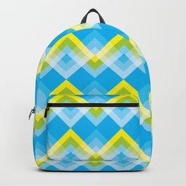 Yellow Green Chevron Backpack