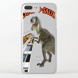 DINE-O-SAUR Clear iPhone Case