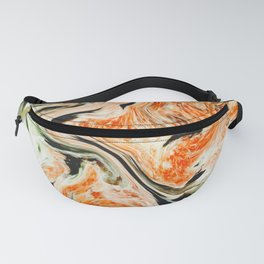Modern orange and green marble Fanny Pack