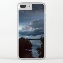 Stormy II Clear iPhone Case