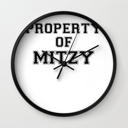 Property of MITZY Wall Clock