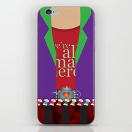 mad hatter. iPhone Skin