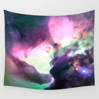 nebula Wall Tapestries featuring Pastel nebULa by 2sweet4words Designs