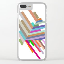 lines with triangles Clear iPhone Case