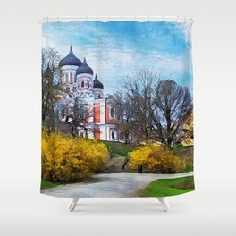 Tallinn art 4 #tallinn #city Shower Curtain