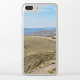 French mountain view Clear iPhone Case